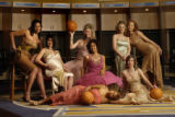 Denver, Co.  February 11, 2005.   Fashion shoot at the Pepsi Center with wives and significant...