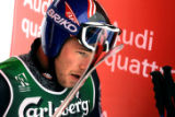 (BORMIO, Italy - Shot 2/1/2005) Bode Miller (#29) leaves the finish area after participating in...