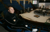 ( DENVER-2/16/05 )  Michael Hanson, of Dressed in Black Productions of Los Angeles, sits in the...