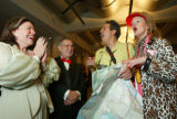 (Denver, Colo., February 5, 2005) Left to right:  Geri Bader Saltzman and Meyer Saltzman play...