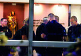 At St Joseph's Hospital, Denver Police begin a search of the hospital for rape suspect Brent J...
