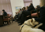 (2/2/05, Denver, CO)   While Speaker Andrew Romanoff talks about his House Bill 1194 during the...