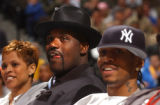 Denver, Colo., photo taken February 18, 2005- NBA All-Stars Shaquille O'Neal (left) and Allen...