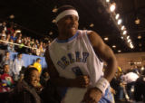 (Denver, Colo., February 18, 2005) Nelly prepares ot go back into the game in the McDonald's NBA...