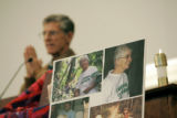 (2/20/05, Denver, CO)  David Stang speaks to people gathered to remember his sister, Sister...