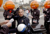 Denver, Colo., photo taken February 20, 2005- Denver Police Sgt., Ron Johns of the traffic bureau...