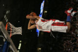 (DENVER, COLO.,  FEBRUARY 20, 2005) Eastern All-Star, Shawn Marion, goes up for a dunk in the...