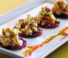 (Denver, COLO.  February 17, 2005) Spanish Chorizo Crackers with Red Pears, Cabrales Blue Cheese,...