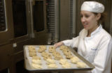 (WESTMINSTER, Colo., February 7, 2005) Rose Wolfson helped with cookie preparations. This is...