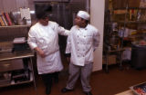 (WESTMINSTER, Colo., February 7, 2005) Daniel A. Rios, Banquet Chef, gives helpful advice to...