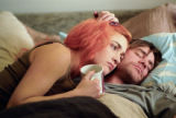 Joel (JIM CARREY) and Clementine (KATE WINSLET) in Eternal Sunshine of the Spotless Mind.