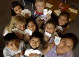 (Thornton, Colo., August 2, 2004)   Third grade students in summer school at Coronado Hills...