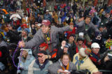 (KEYSTONE, COLORADO:  FEBRUARY 8, 2005)   Patrons of Keystone Resort's 7th Annual Mardi Gras all...