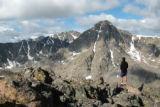 Dave Williams takes in the view of Mount of the Holy Cross from the summit of Notch Mountain.