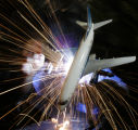 (PLEASE GIVE WELDER NAME AND COMPANY CREDIT FOR ILLUSTRATION) The airline industry including some...