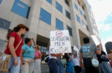 (DENVER, CO. August 3, 2004)  Protesters organized by Colorado INSIGHT, protested the Colorado...