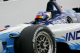 Paul Tracy (#3) of Indeck - Forsythe Championship Racing makes his way out of pit row during Champ...