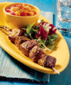 Beef Kabobs With Grilled Salsa. Photo by Colorado Beef Council.