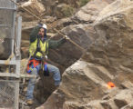 The Colorado Department of Transportation blasted unstable rocks on the north side of I-70 on...