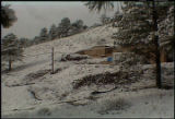 HGTV Dream House time-lapse photo made from a stationary video camera.  Foundation in first snow...