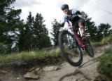 NORBA National Series Pro Women's Super D Champion, Jennifer Whalen,cq, 29, of Idaho Springs,...
