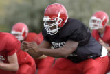 Regis High School's Butch Lewis (cq) is reguarded as the top lineman in the state and has been...