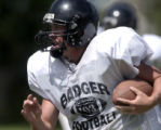 Tyson Liggett is the quarterback for Limon High School.   (HAL STOELZLE/ROCKY MOUNTAIN NEWS)   **