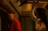 Famed film star Bill Murray signs prints in the ballroom of the Jermone Hotel in Aspen. Murray who...