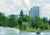 Denver, CO Aug. 20, 2005  Boaters and skiiers enjoy the weather and water on Sloan's lake during...