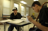 (DENVER, Colo., April 6, 2004) Elvis Nunez has a tired moment while mentoring others on getting...