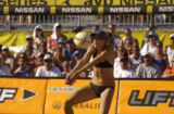 Olympic gold medalist, Kerri Walsh, of Redondo Beach, Calif., during the AVP 2005 Nissan Series...