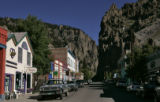 Looking down the main street of Creede, CO Tuesday September 13, 2005. Many of the people living...