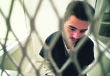 Antonio Scott Farrell,18, at the  Adams County Detention Center September 22, 1997 as he waits for...