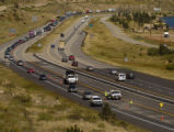 West bound traffic gets backed up on I-70 near the Georgetown exit Thursday afternoon September 1,...