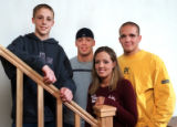 The Garcia siblings, from left: Jake, 12, Travis, 19, Nicole, 16, and Sam, 17, right, on January...