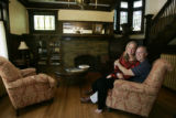 Nancy and David Osburn sit in their living room, in the childhood home of Mamie Eisenhower at 750...