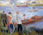 A painting in the office Alan Benson, Regional Director of the National Labor Relations Board in...