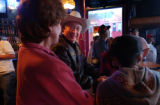Canon City, Colo., photo taken October 24, 2004- Ken Salazar talks with people at Manhattan's Bar...