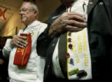 (COLORADO SPRINGS , Colo, November 11, 2004) Vincent Niske  retired Air Force (left ) and Kenneth...