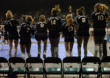 (DENVER, CO., NOVEMBER 12, 2004)  Members of the Highlands Ranch bench #1, Molly Murray, #7,...