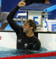 (Athens, Greece  on Monday, Aug. 16, 2004) - Ian Thorpe of Australia reacts to winning the gold...