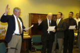 (LONE TREE Colo., November 15, 2004)  Jack Hidahl, left, City Manager of the City of Lone Tree,...