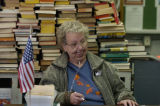 (EMPIRE Colo., November 2, 2004) Bonnie Hunt, Election Judge at this polling place, looks over a...