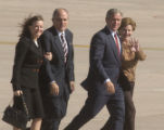 Aurora, Colo.-October 25,2004- L to R: Judith and Rudy Giuliani (cq) accompany President George...