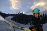 Vail Trail/Matt Inden Josh Brendle, second year snowmaker adjusts the direction of the snow gun on...