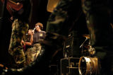 (DENVER  Colo., November10, 2004)Members of a rock band, part of the 399th Army Band from Fort...