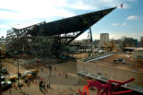 [Denver, CO - Shot on 11/04/2004]  A 115 foot long pedestrian bridge spanning 13th Ave. and...