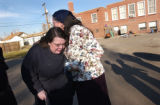 (Denver, Colo., Nov. 4, 2004)  Kristin Sowders, left, mother of Timmy Sowders, is comforted by...
