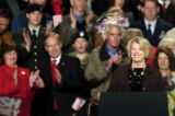 (GREELEY, CO. OCTOBER 25, 2004) Congresswoman Marilyn Musgrave is applauded as she speaks in...