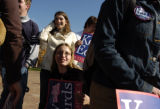 (10/26/2004) Boulder, Colorado- Cate Edwards, above center, daughter of Vice Presidential...